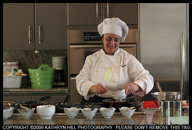 Chef JoAnna, cooking at Kathy Griffin's House, called WINGS.